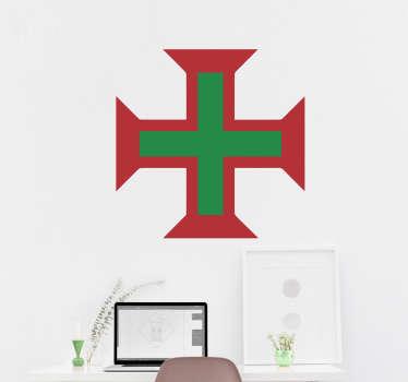 Autocolantes com cidades e países cruz de portugal