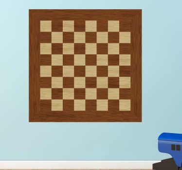 Aufkleber Brettspiel Schachbrett Brettspiel