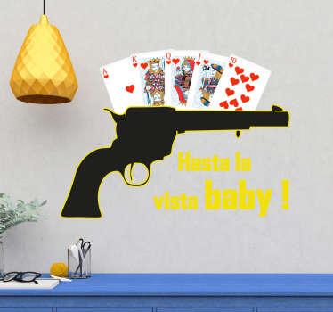 Autocolantes decorativos de outros textos pistola