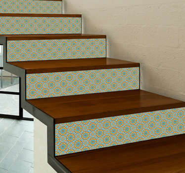 Give an innovative touch with vinyl stair tile decoration in your home or office. Customize the size you prefer and it is highly self-adhesive.