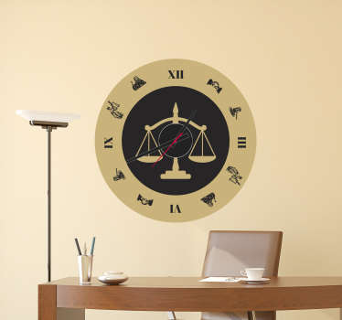 Old Fashioned Clock Sticker