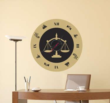 Naklejka z rysunkiem zegar waga