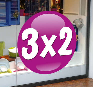 Customisable - Promotional - Business Stickers - A design ideal for any retail business. Purple ball label design great for promotions. Perfect for putting in your shop front window, choose any size and any text.