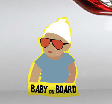 Baby on board! Tell everyone with this Hangover themed sticker! Choose your size.
