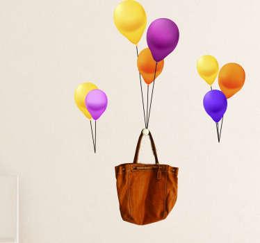 Objekt Aufkleber Luftballons Garderobe