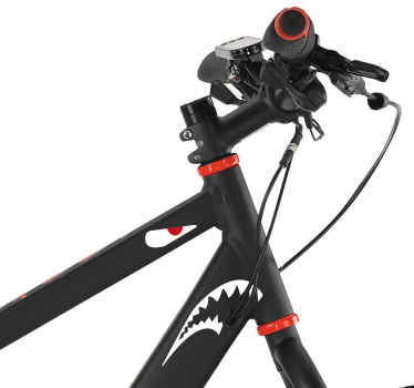 Shark Face Bicycle Stickers