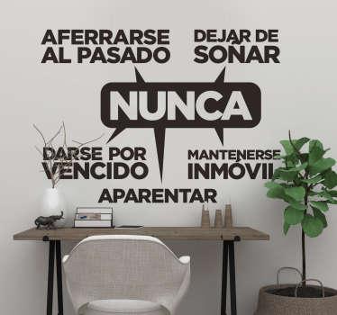 Vinilo decorativo para negocios con la fórmula del éxito de una empresa ideal para la decoración de espacios y salas de trabajo de una empresa.