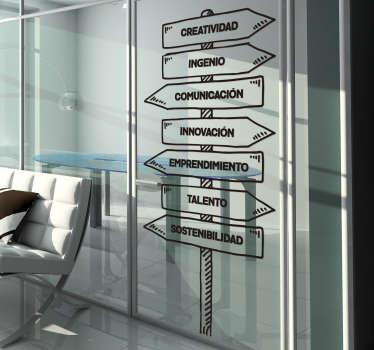 Vinilo de frases para negocios ideales para mantener tu espacio de trabajo y los trabajadores de la oficina de una forma motivada.