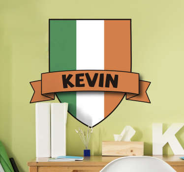 Custom Ireland Flag Wall Sticker