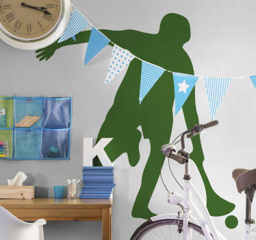 Hurling players wall sticker to decorate any flat surface of choice. It is easy to apply and adhesive. Available in different colour options.