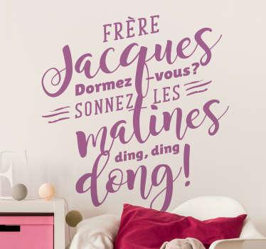 Sticker Enfant Frère Jacques