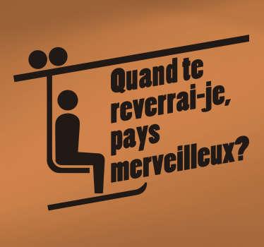 Qui ne connait pas cette citation de film très célèbre ? Le texte qui rappelle le cinéma Français saura vous détendre. +10.000 Clients Satisfaits.