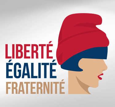 Stickers Monde Marianne Française