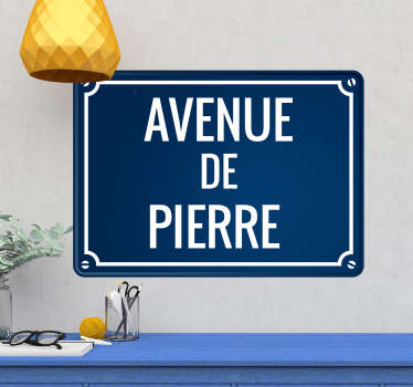Stickers Monde Plaque de Rue