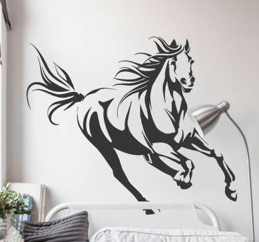 Adorn your walls with this magnificent horse thanks to our wall design! Choose your size.
