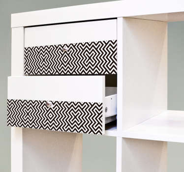 Autocolantes Ikea geometrico preto e branco