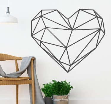 Slaapkamer muursticker origami hart