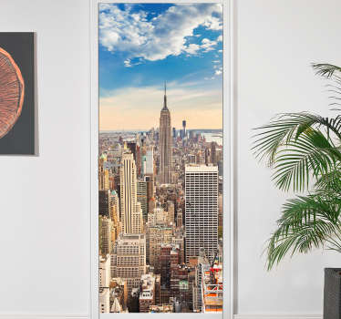 Decorazione adesiva per porte skyline New York