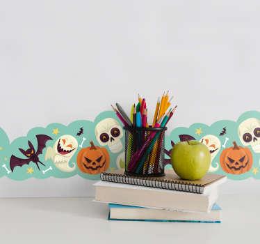 Sticker Halloween greca adesiva bambini