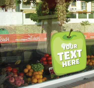 Apfel Text Aufkleber