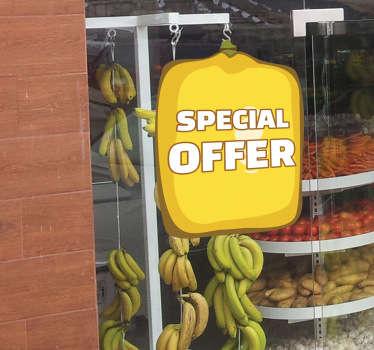 Naklejka oferta owoc