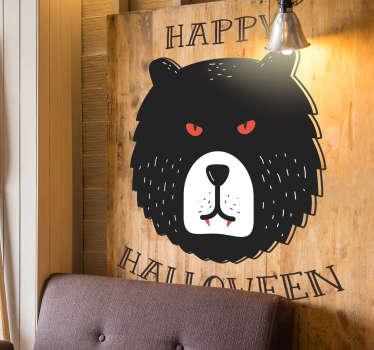 Grizzly Bear Happy Halloween Sticker