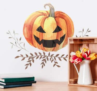 Naklejki Halloween: rzeźbiona dynia