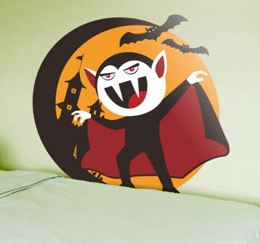 Naklejka na Halloween: Drakula