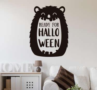Autocolantes com texto pronto para o halloween
