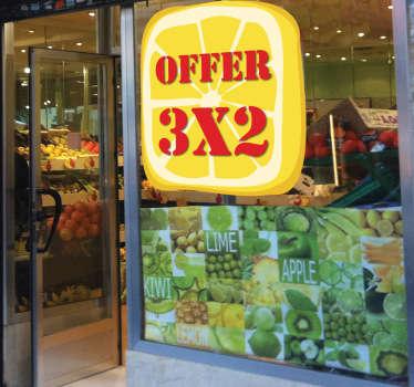 Sticker gesneden citroen promoties winkel