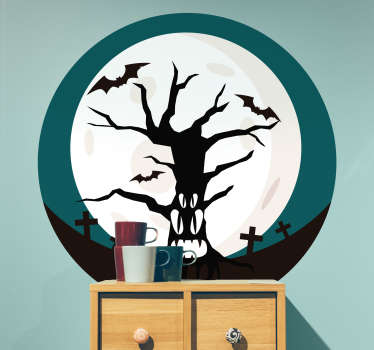 A spooky sticker perfect for your home this Halloween! Discounts available.