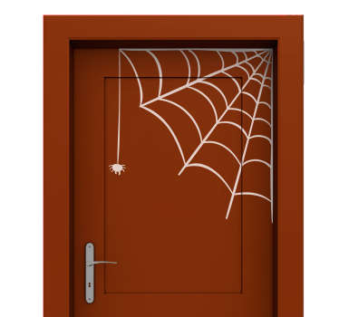 Spider Web Halloween Sticker