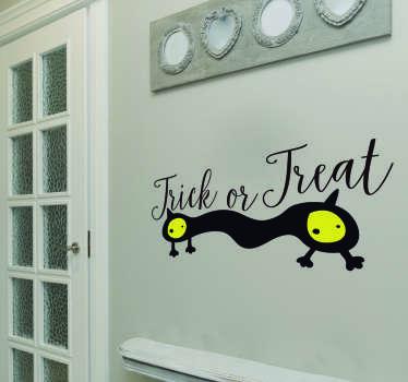 Sticker Halloween Trick or Treat