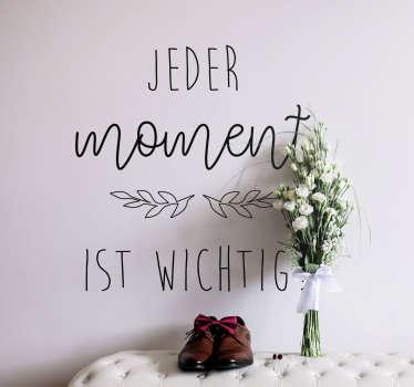 Wandtattoo Wohnzimmer Motivationsspruch Leben Carpe diem