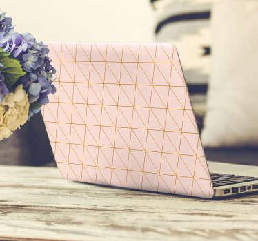 Autocolante para PC rosa e dourado