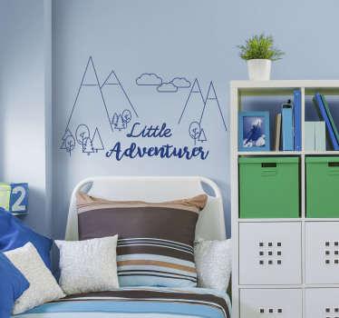 Wandtattoo Jugendzimmer Adventure Zeichnung