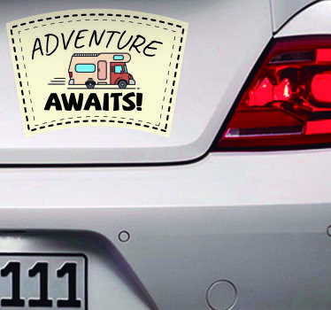 Adventure Awaits Car Sticker