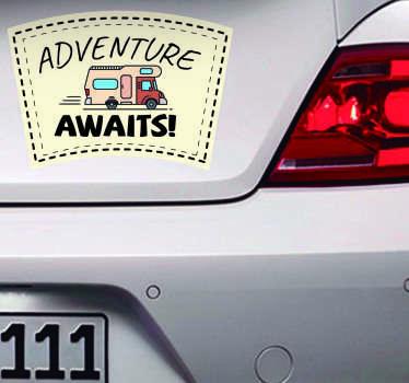Autocolante para veículos caravana aventura