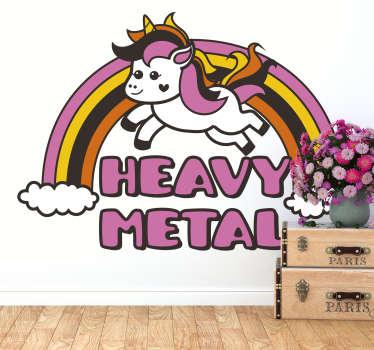 Kinderkamer muursticker eenhoorn Heavy Metal