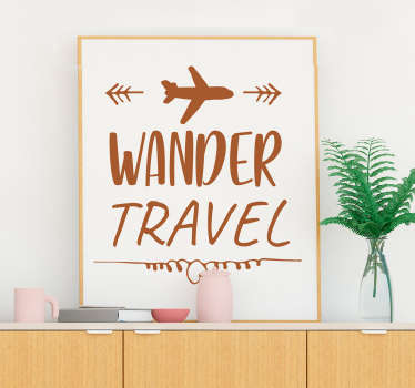 Decorate your home with this wall sticker demonstrating your love to travel!