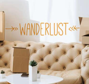 Muurstickers slaapkamer Wanderlust simple