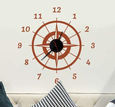 Wanderlust kompas ura stenske ure nalepke