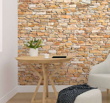 Decorate your home with this realistic brick themed wall decal! Sign up for 10% off.