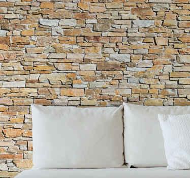 Muursticker ornament baksteen textuur