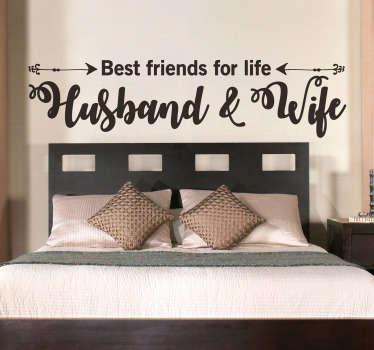 Slaapkamer muursticker best friends for life