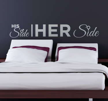 His and Her Side Bed Sticker