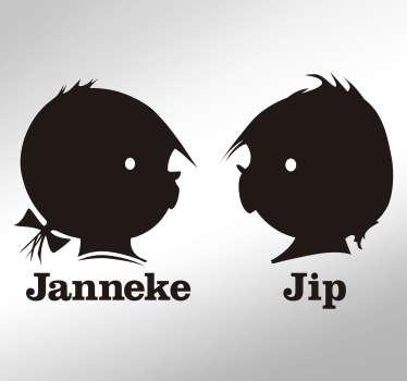 Muurstickers kinderkamer Jip en Janneke