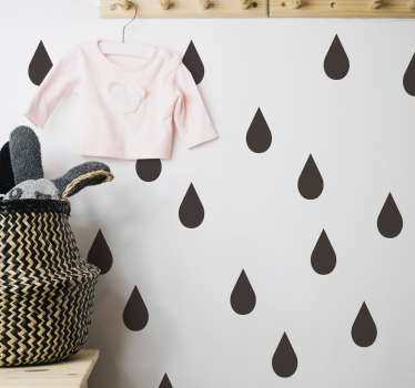 Monocolour Raindrops Stickers