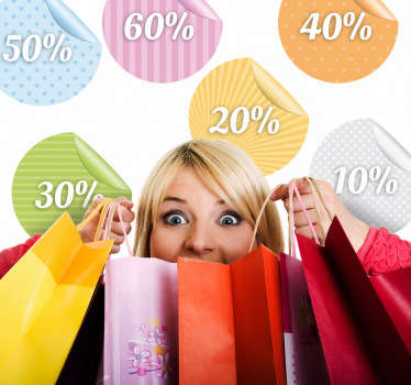 Peeling discount autocolante personalizabile