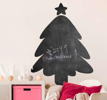 Sticker Chambre Enfant Sapin à Craie de Noël